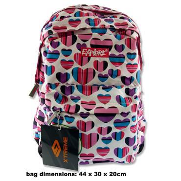 hearts schoolbag